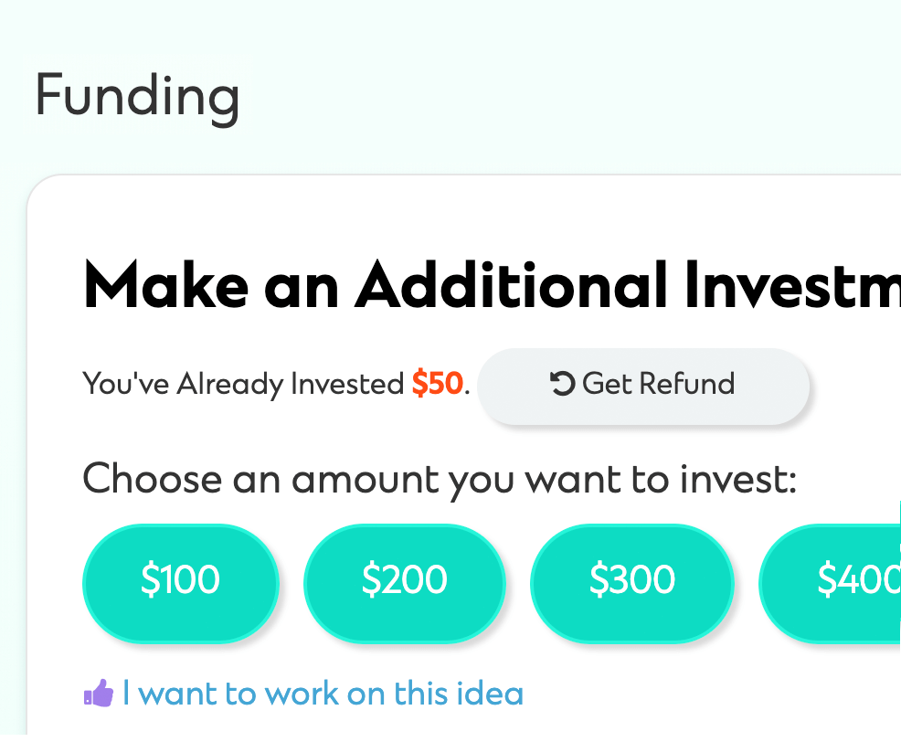 Image of crowdfunding an investment