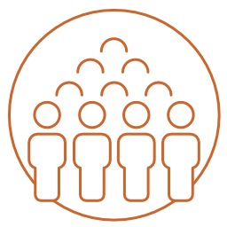 Icon of a group representing internal crowdsourcing