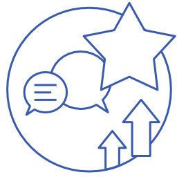 Icon of message chat representing the changes to the future of work